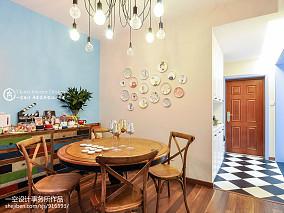 热门72平方二居餐厅混搭装修实景图片大全