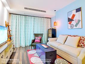 2018面积87平混搭二居客厅装修图片欣赏