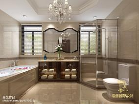 卫生间墙面深色装潢效果图欣赏