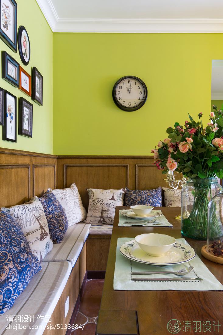 热门面积85平美式二居餐厅装修设计效果图片客厅美式经典客厅设计图片赏析