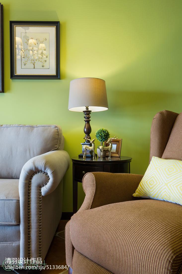 精致69平美式二居客厅装修案例客厅美式经典客厅设计图片赏析