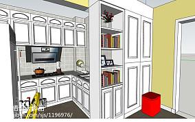 悠雅29平田园小户型厨房装修图片餐厅美式田园设计图片赏析