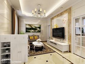 精美面积78平小户型客厅欧式装修欣赏图