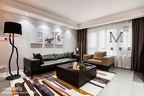 质朴125平现代三居设计案例