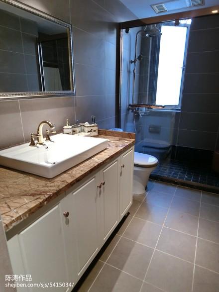 热门欧式三居卫生间装修设计效果图片欣赏卫生间