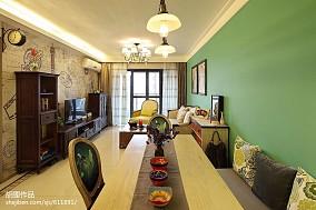 优雅64平混搭二居餐厅装潢图