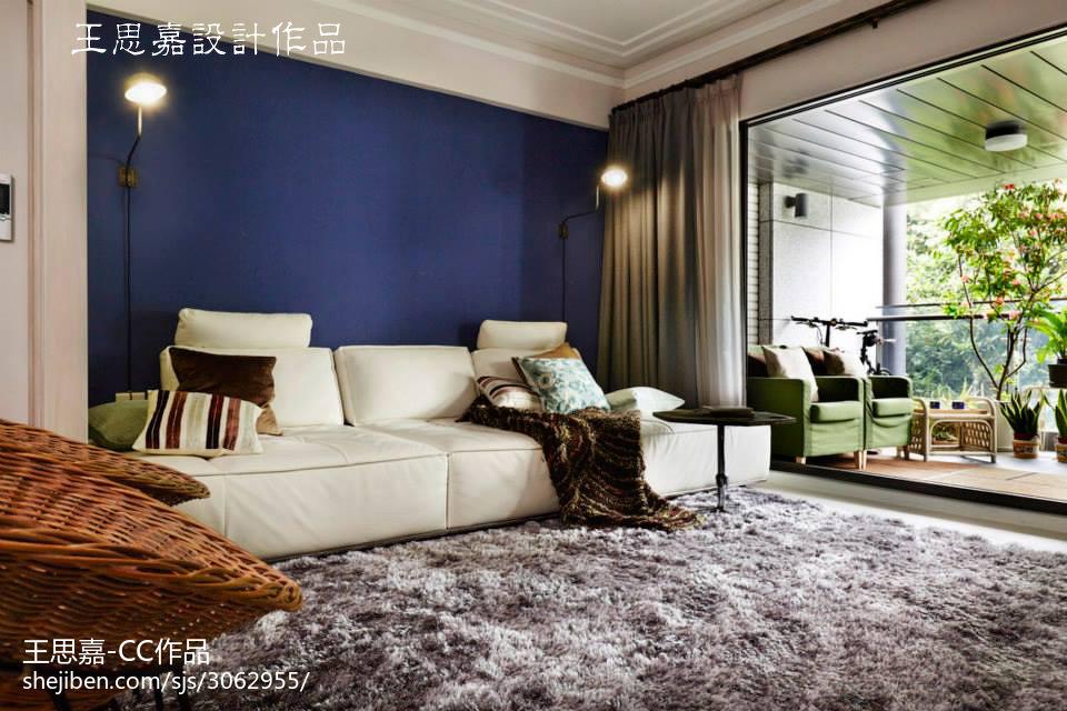 热门大小72平混搭二居客厅装饰图片欣赏客厅