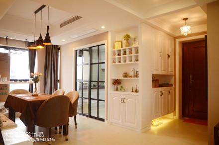 精选106平米三居餐厅美式装修设计效果图片欣赏厨房