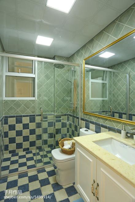 温馨256平田园样板间装饰图片卫生间
