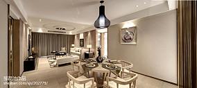 精美275平中式样板间餐厅效果图欣赏样板间中式现代家装装修案例效果图
