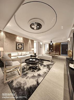 2018精选客厅中式装修效果图片样板间中式现代家装装修案例效果图