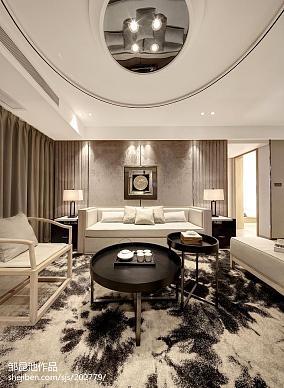精美中式客厅装修欣赏图片样板间中式现代家装装修案例效果图