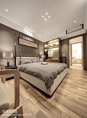 2018卧室中式效果图样板间中式现代家装装修案例效果图
