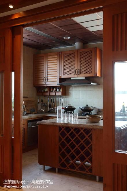 精美别墅厨房东南亚装饰图餐厅1图