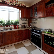 精美面积123平别墅厨房欧式装修欣赏图片