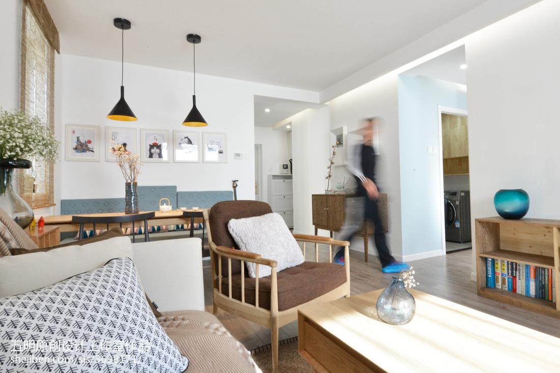 精美76平米二居客厅混搭装修欣赏图片大全卧室