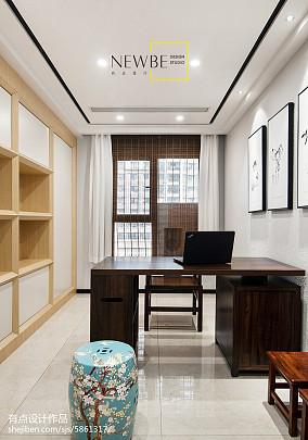 热门面积86平中式二居装修效果图片