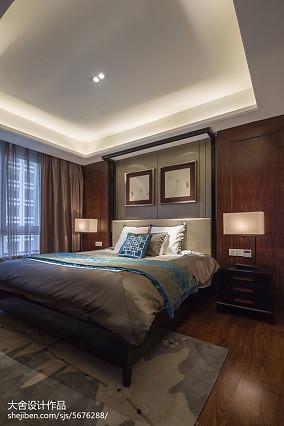 中式卧室背景墙图片大全欣赏