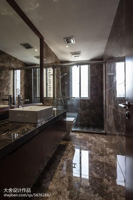 中式卫生间洗手台装修设计