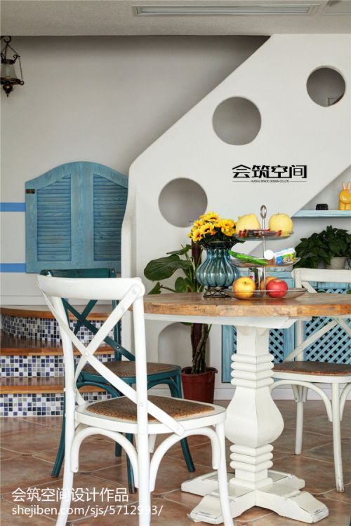 平米地中海复式餐厅装修效果图片欣赏厨房