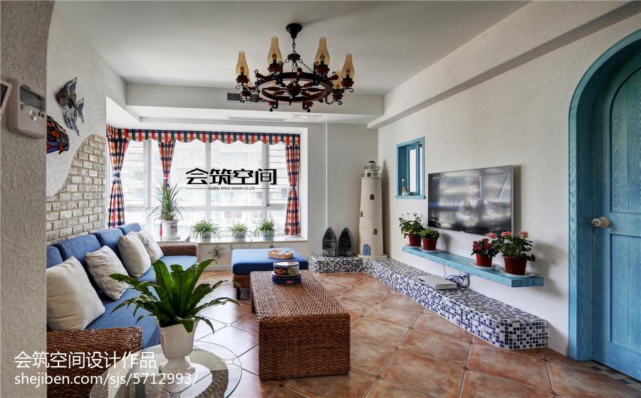 精美142平米地中海复式客厅装修设计效果图客厅地中海客厅设计图片赏析