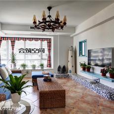 精美142平米地中海复式客厅装修设计效果图