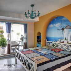 2018面积125平复式卧室地中海装修实景图片欣赏