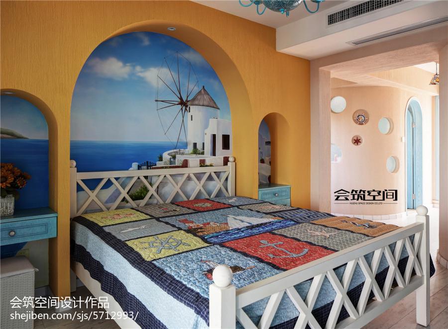 精选面积132平复式卧室地中海装修设计效果图片欣赏卧室地中海卧室设计图片赏析