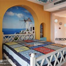 精选面积132平复式卧室地中海装修设计效果图片欣赏