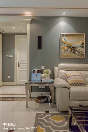 热门大小99平欧式三居客厅装修欣赏图片三居欧式豪华家装装修案例效果图