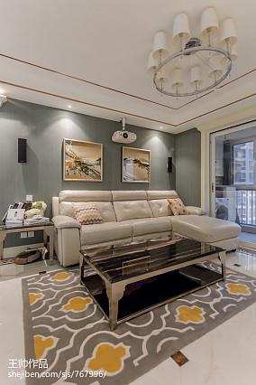 2018大小99平欧式三居客厅装饰图片三居欧式豪华家装装修案例效果图