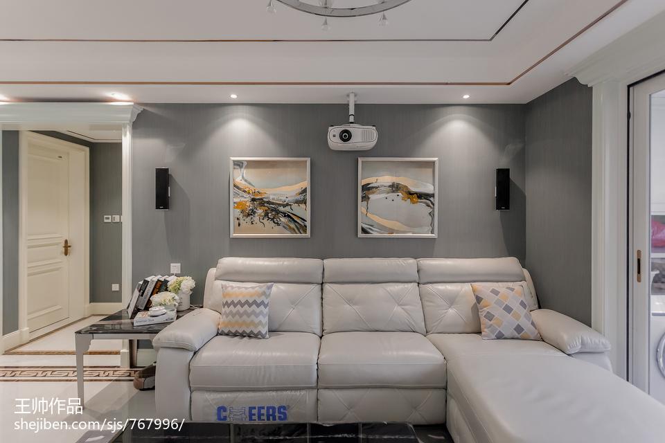 精选面积102平欧式三居客厅装修欣赏图片三居欧式豪华家装装修案例效果图