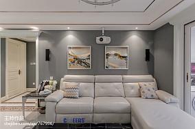 精选面积102平欧式三居客厅装修欣赏图片