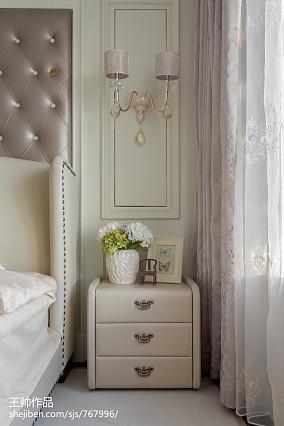 华丽114平欧式三居卧室装修设计图三居欧式豪华家装装修案例效果图