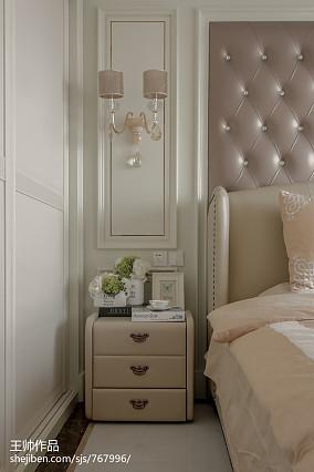 热门面积101平欧式三居卧室装修欣赏图片大全三居欧式豪华家装装修案例效果图