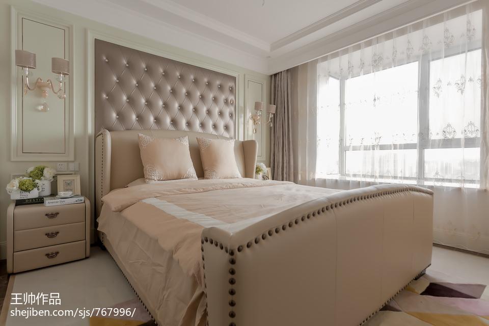 欧式风格三居室卧室装修图片卧室窗帘欧式豪华卧室设计图片赏析