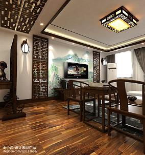 质朴180平中式别墅客厅实景图片