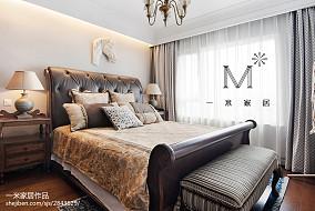 2018精选面积96平美式三居卧室装修实景图三居美式经典家装装修案例效果图