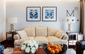 精美96平方三居客厅美式装修图片欣赏三居美式经典家装装修案例效果图