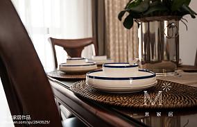 2018精选面积101平美式三居餐厅装修实景图三居美式经典家装装修案例效果图
