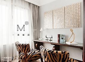 精美96平米三居书房美式装饰图片大全三居美式经典家装装修案例效果图