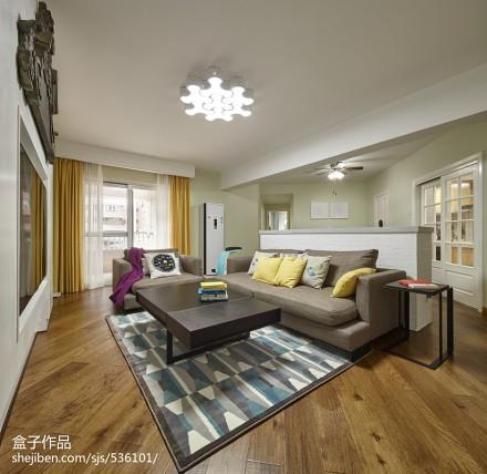 精美混搭3室装修效果图片大全101平三居潮流混搭家装装修案例效果图