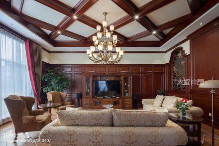 精美112平米美式别墅客厅装修图客厅2图