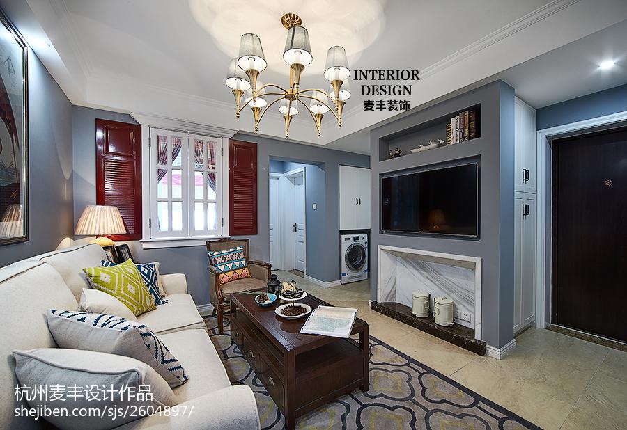 简约美式客厅窗户装修图片客厅美式经典客厅设计图片赏析