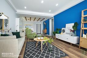 热门大小108平现代三居客厅装修实景图片