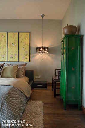 面积110平别墅卧室中式装修效果图