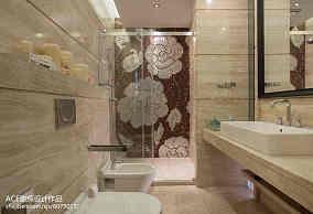 面积144平别墅卫生间中式装修设计效果图片