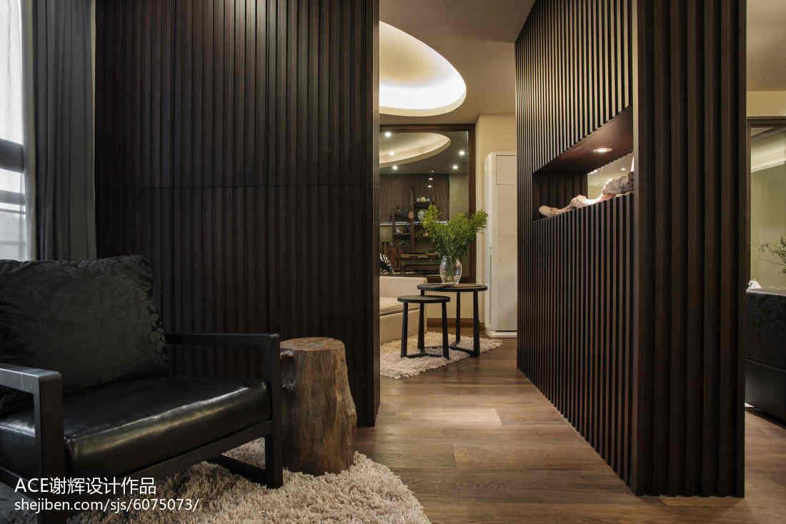 精美144平米中式别墅玄关装修效果图玄关中式现代玄关设计图片赏析