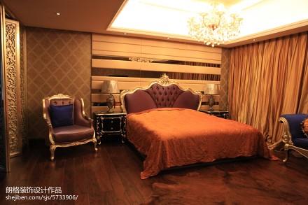 精选面积113平别墅卧室欧式装修效果图片大全卧室2图