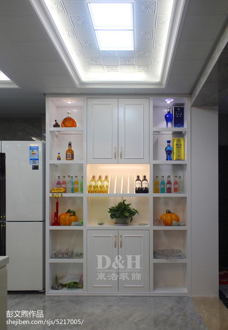 热门面积103平现代三居厨房装修欣赏图餐厅现代简约厨房设计图片赏析